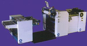 In-line laminating machine